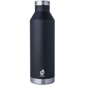 MIZU V8 juomapullo with Stainless Steel Cap 800ml , musta